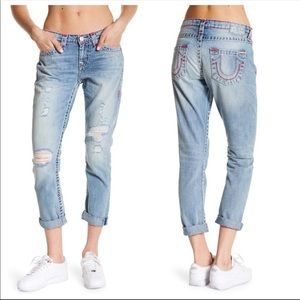 NEW! True religion Audrey Boyfriend Jeans